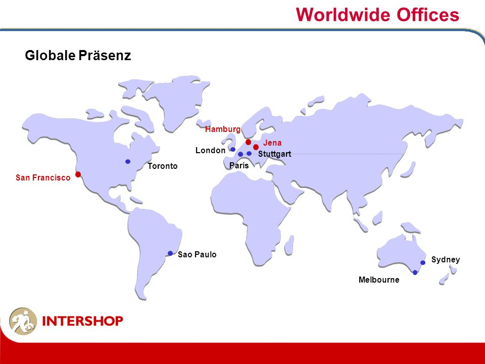 Worldwide Offices Globale Präsenz Hamburg Jena London Stuttgart
