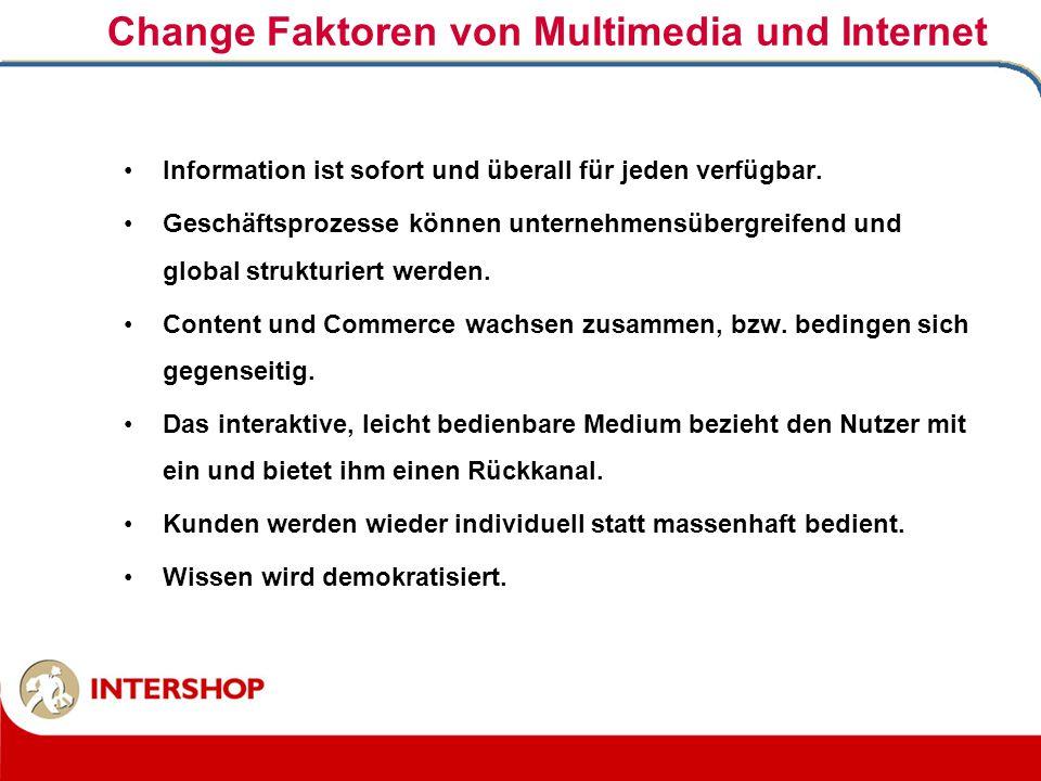 Change Faktoren von Multimedia und Internet