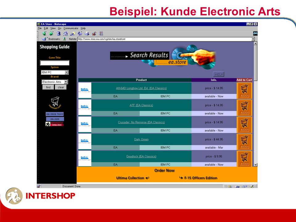 Beispiel: Kunde Electronic Arts