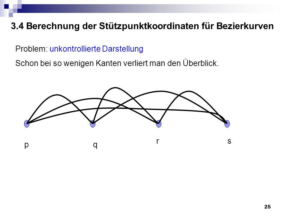 3.4 Berechnung der Stützpunktkoordinaten für Bezierkurven