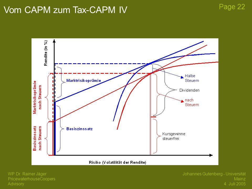 Vom CAPM zum Tax-CAPM IV