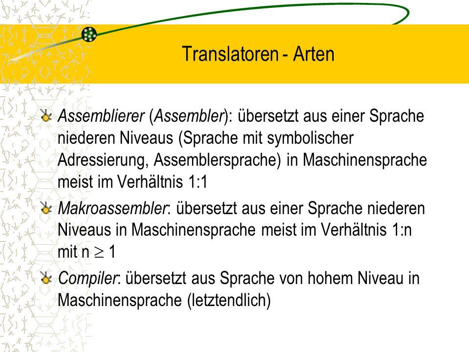 Translatoren - Arten