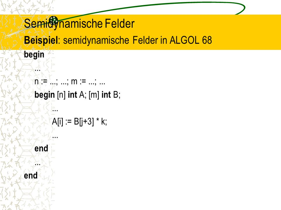 Semidynamische Felder