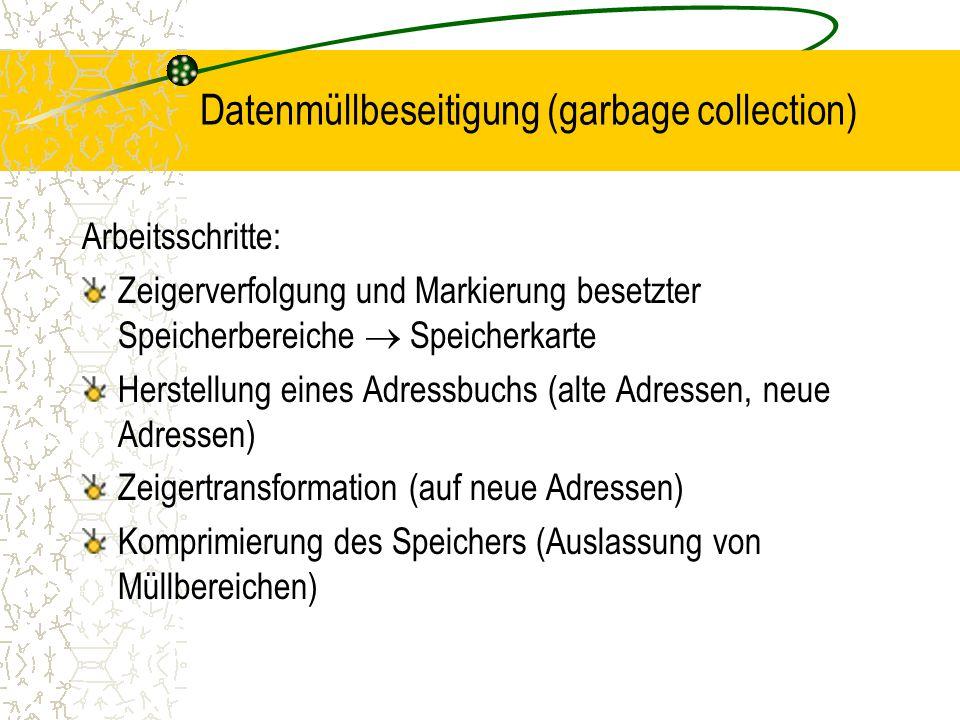 Datenmüllbeseitigung (garbage collection)