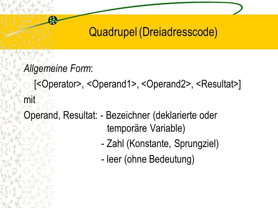 Quadrupel (Dreiadresscode)