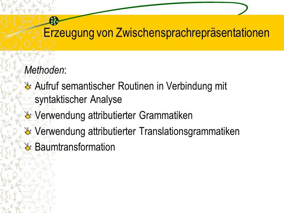 Erzeugung von Zwischensprachrepräsentationen