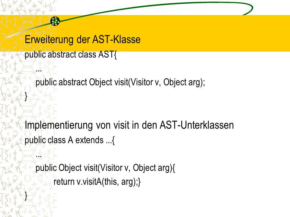 Erweiterung der AST-Klasse
