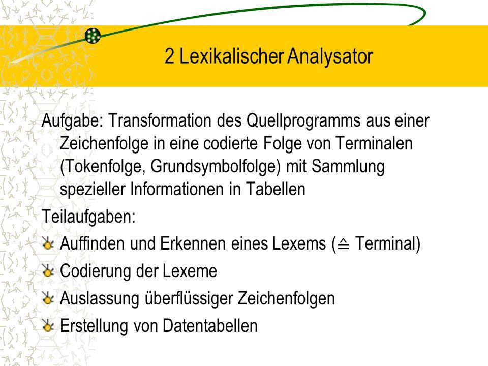 2 Lexikalischer Analysator