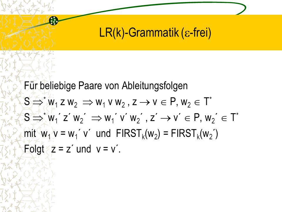 LR(k)-Grammatik (-frei)