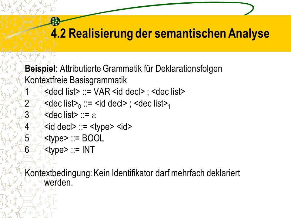 4.2 Realisierung der semantischen Analyse