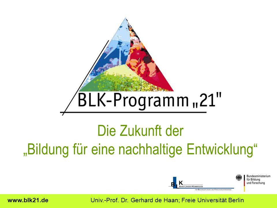 """Die Zukunft der """"Bildung für eine nachhaltige Entwicklung"""
