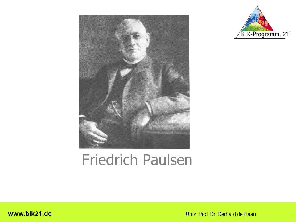 Friedrich Paulsen www.blk21.de Univ.-Prof. Dr. Gerhard de Haan