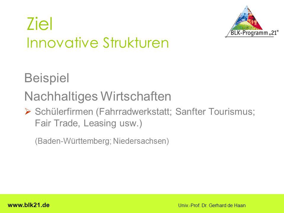 Ziel Innovative Strukturen