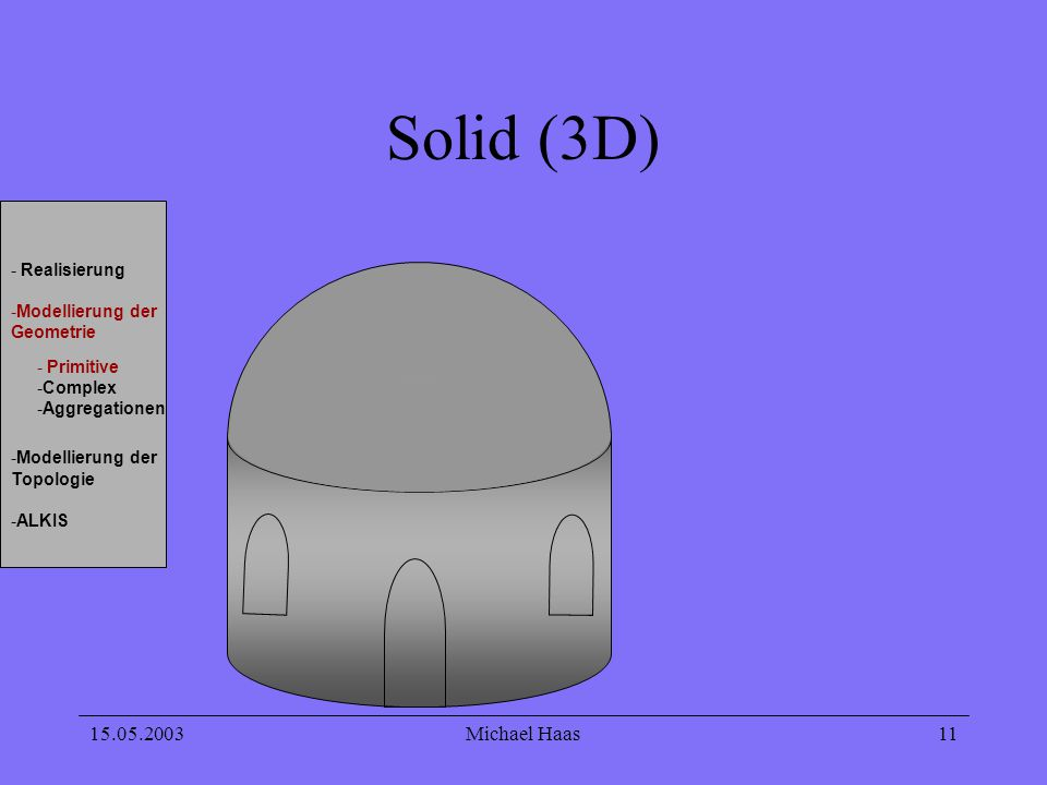 Solid (3D) 15.05.2003 Michael Haas Realisierung