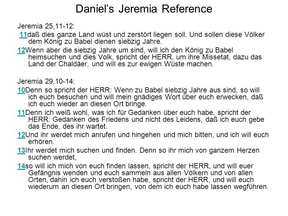 Daniel's Jeremia Reference
