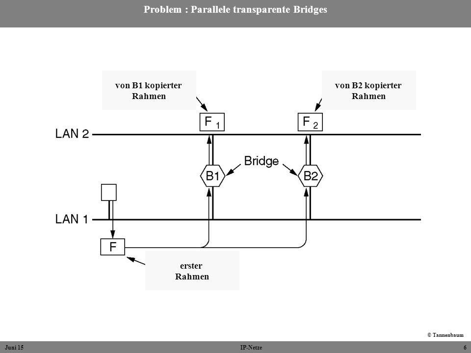 Problem : Parallele transparente Bridges