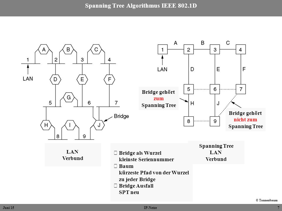 Spanning Tree Algorithmus IEEE 802.1D