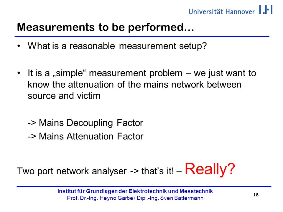 Measurements to be performed…