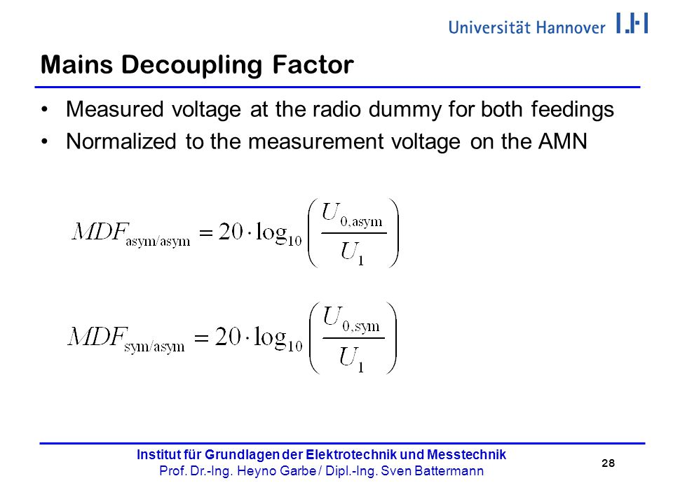 Mains Decoupling Factor
