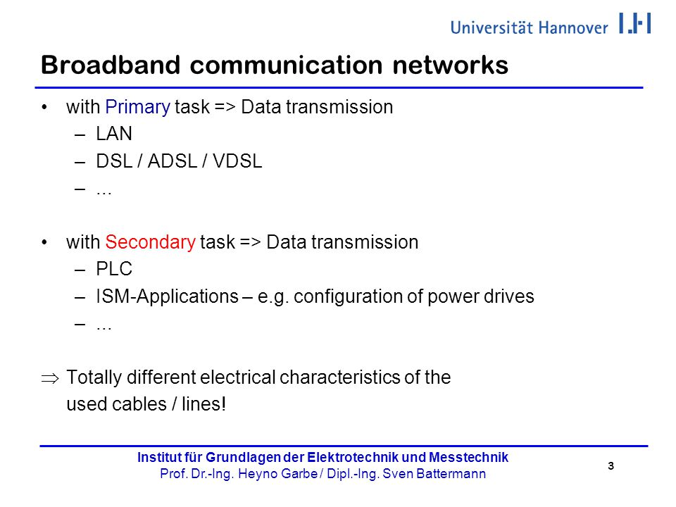 Broadband communication networks