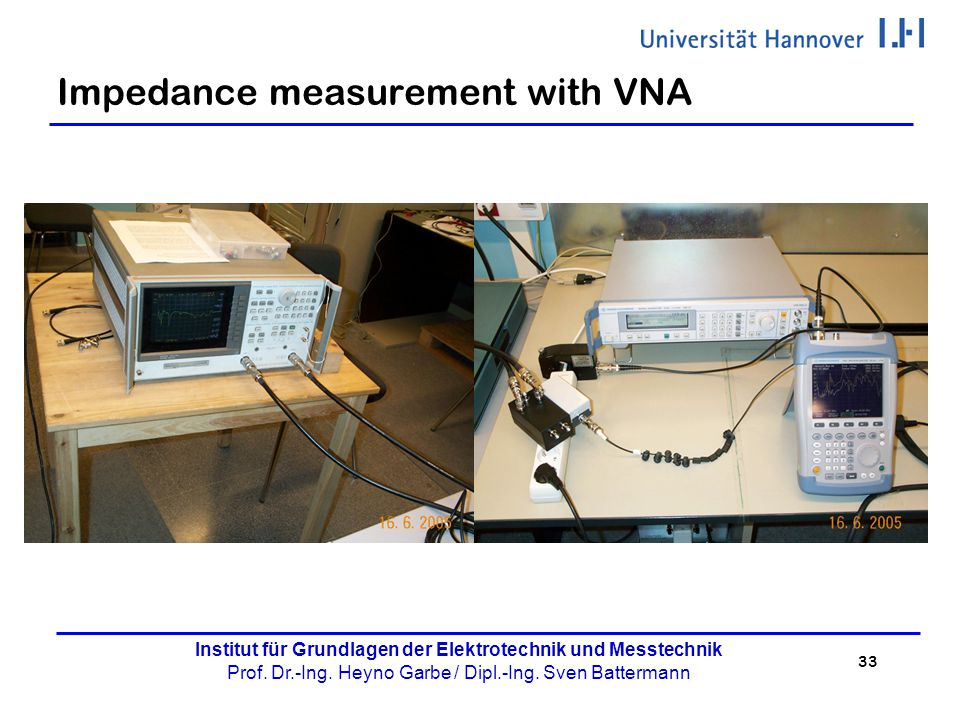 Impedance measurement with VNA