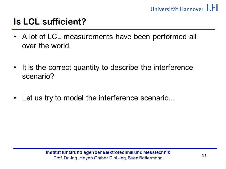 Is LCL sufficient A lot of LCL measurements have been performed all over the world.