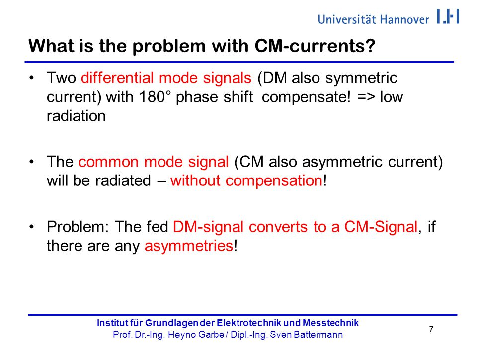 What is the problem with CM-currents