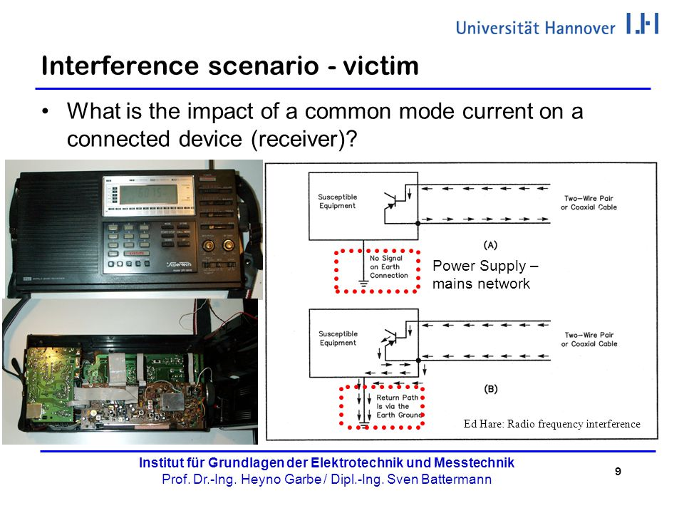 Interference scenario - victim
