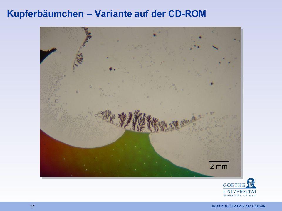 Kupferbäumchen – Variante auf der CD-ROM