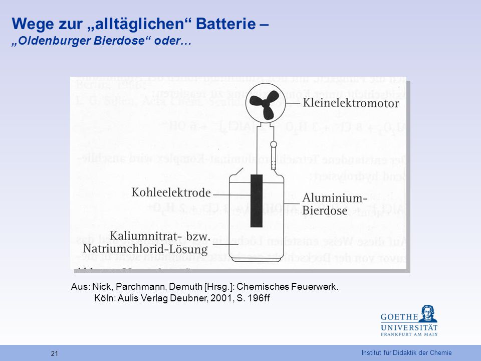 """Wege zur """"alltäglichen Batterie – """"Oldenburger Bierdose oder…"""