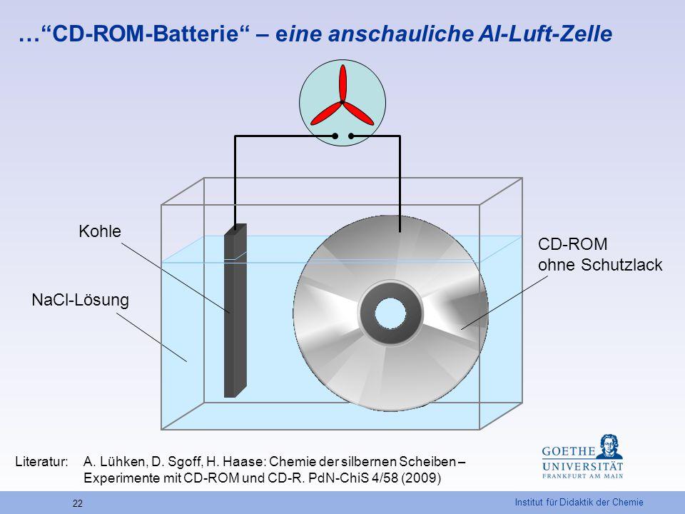 … CD-ROM-Batterie – eine anschauliche Al-Luft-Zelle