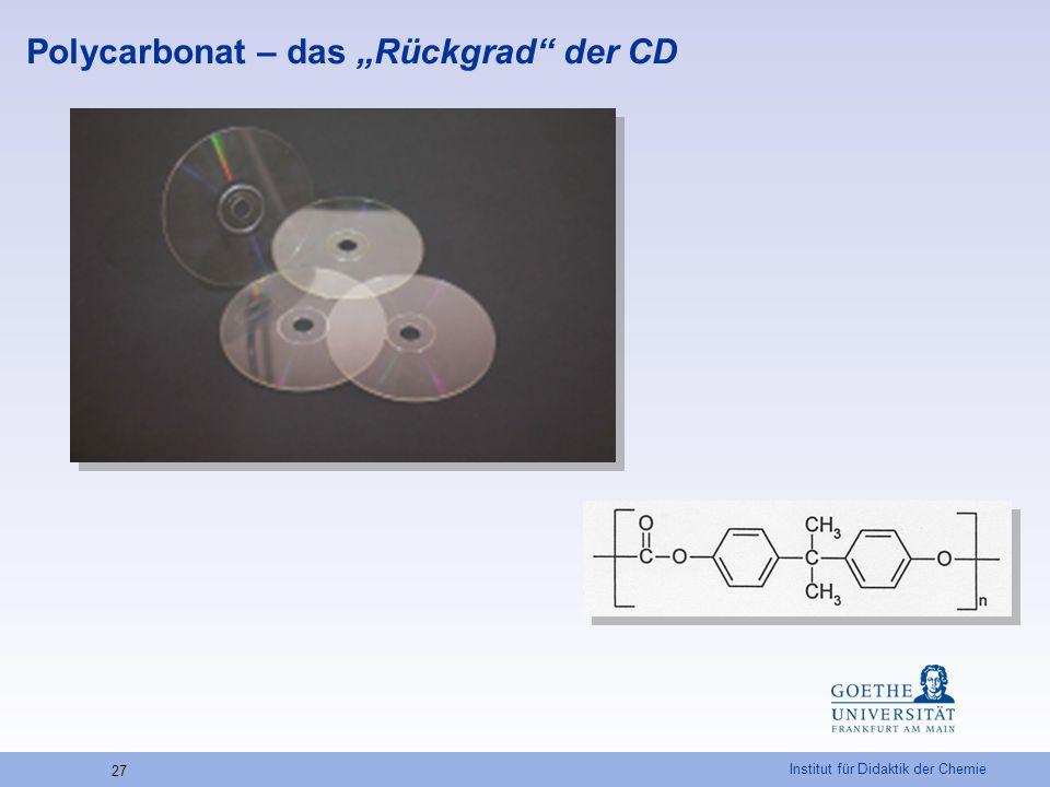 "Polycarbonat – das ""Rückgrad der CD"