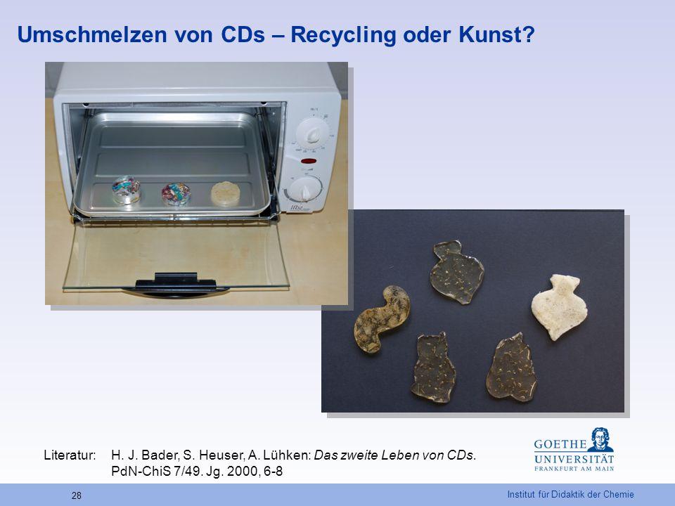 Umschmelzen von CDs – Recycling oder Kunst