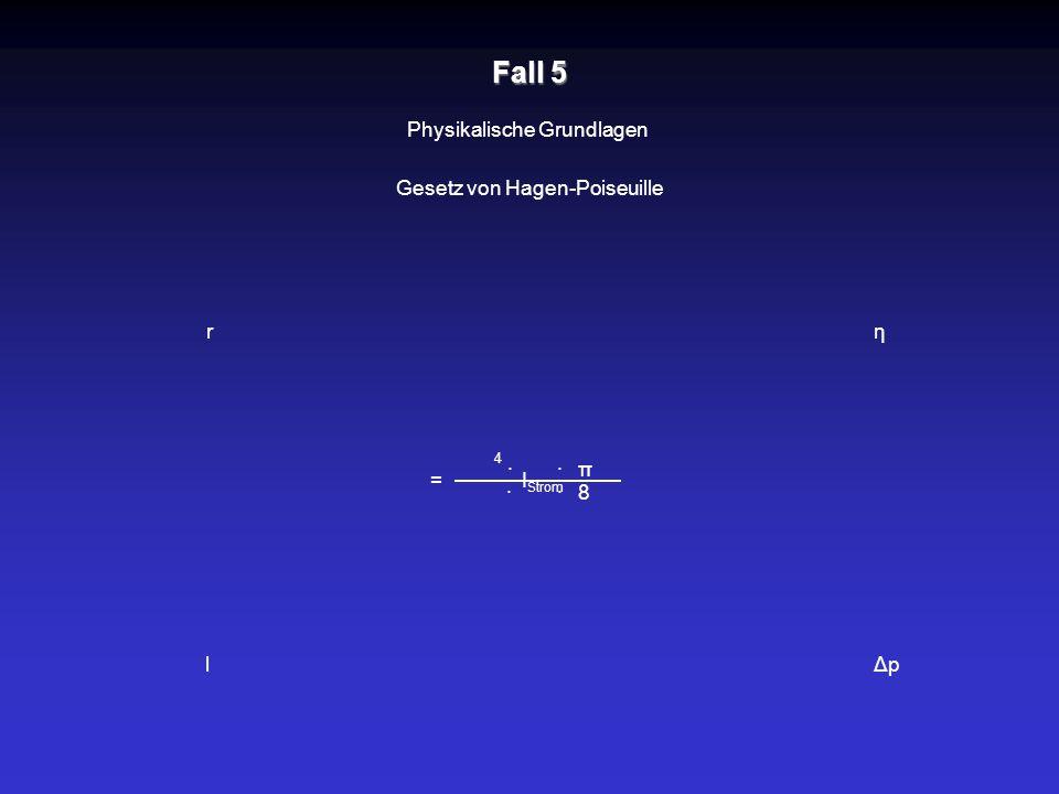 Fall 5 Physikalische Grundlagen Gesetz von Hagen-Poiseuille r η · · π