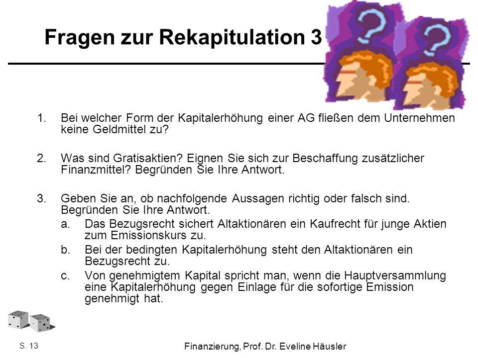 Fragen zur Rekapitulation 3