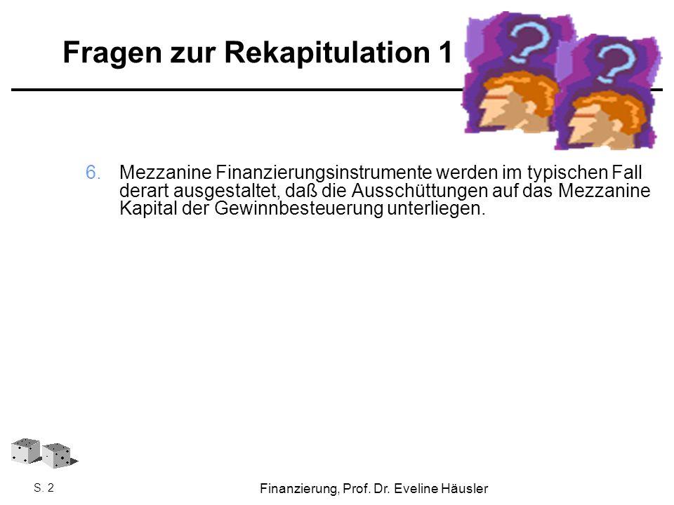 Fragen zur Rekapitulation 1