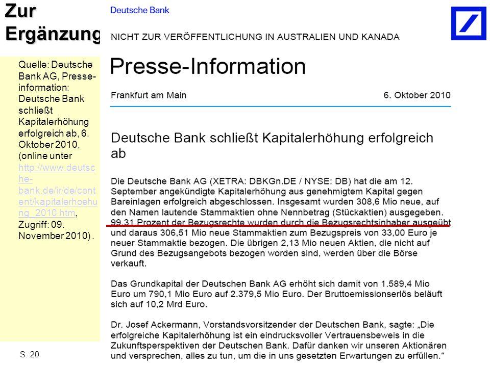 Finanzierung, Teil II, WS 2011-2012 - Prof. Dr. Häusler
