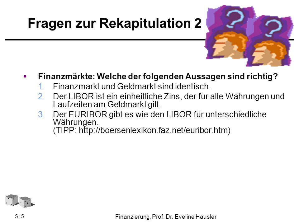 Fragen zur Rekapitulation 2