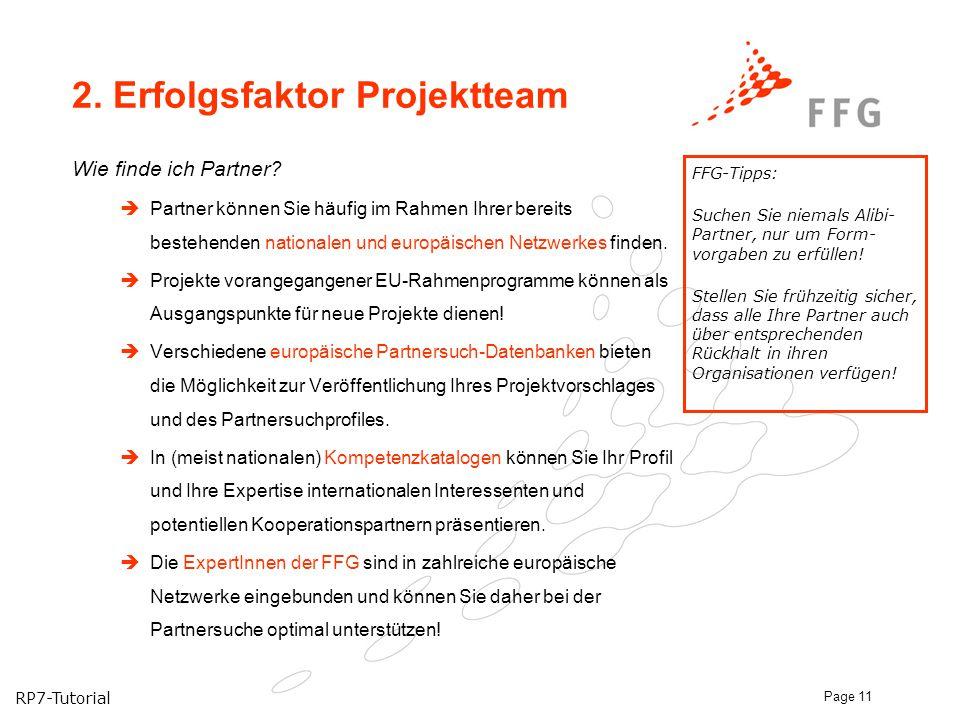 2. Erfolgsfaktor Projektteam