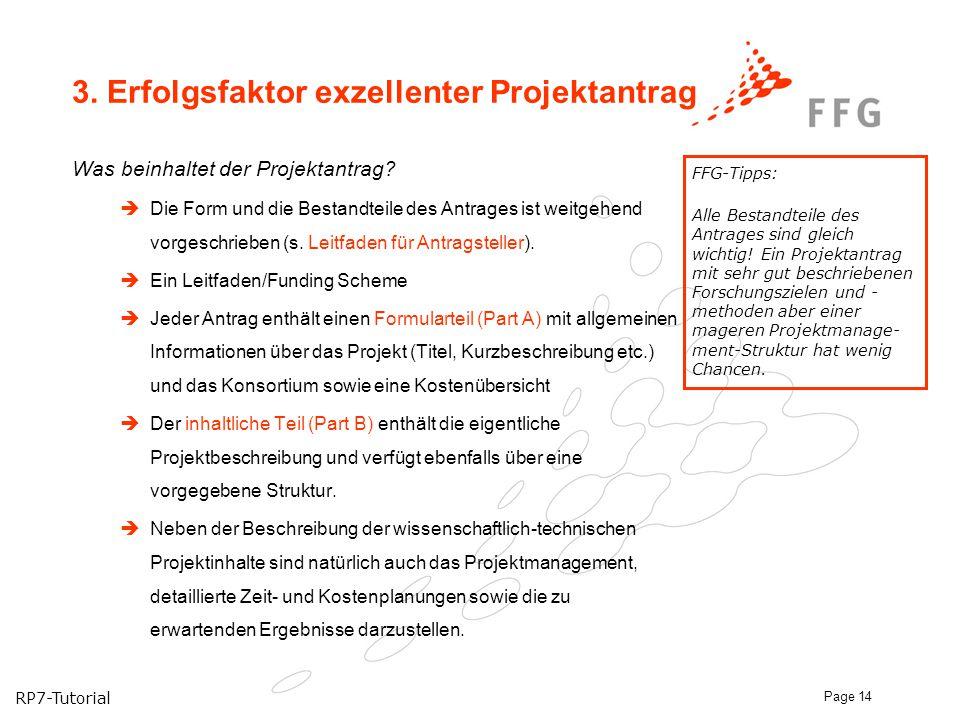 3. Erfolgsfaktor exzellenter Projektantrag