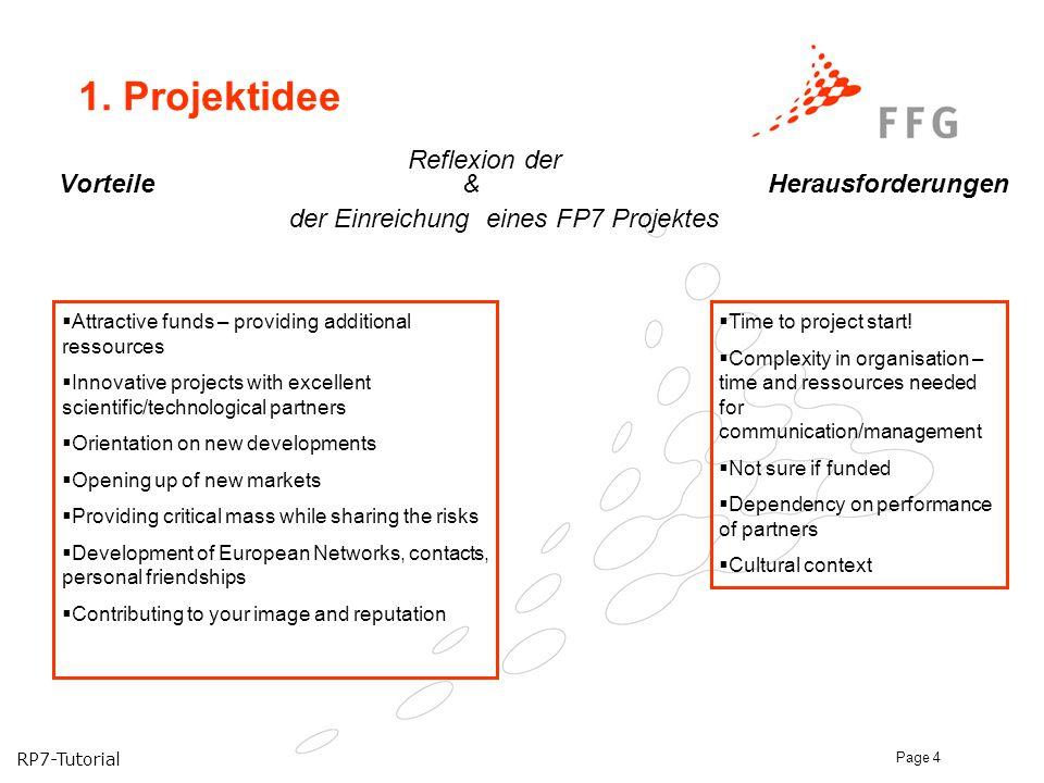 1. Projektidee Reflexion der Vorteile & Herausforderungen