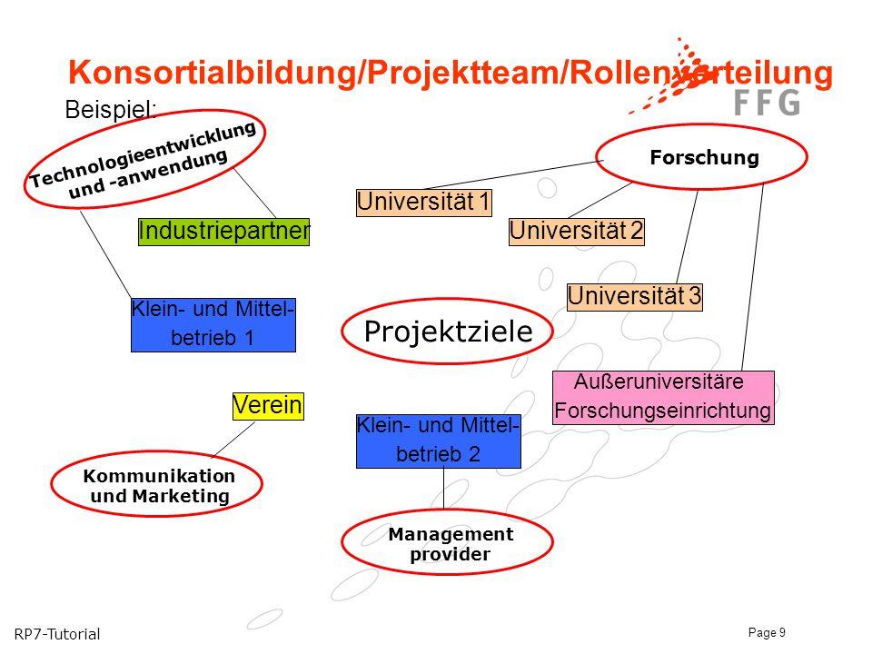 Konsortialbildung/Projektteam/Rollenverteilung