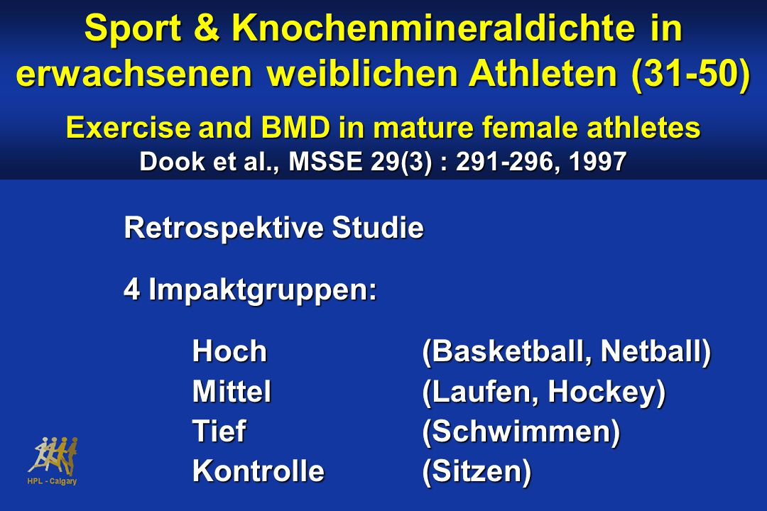 Exercise and BMD in mature female athletes