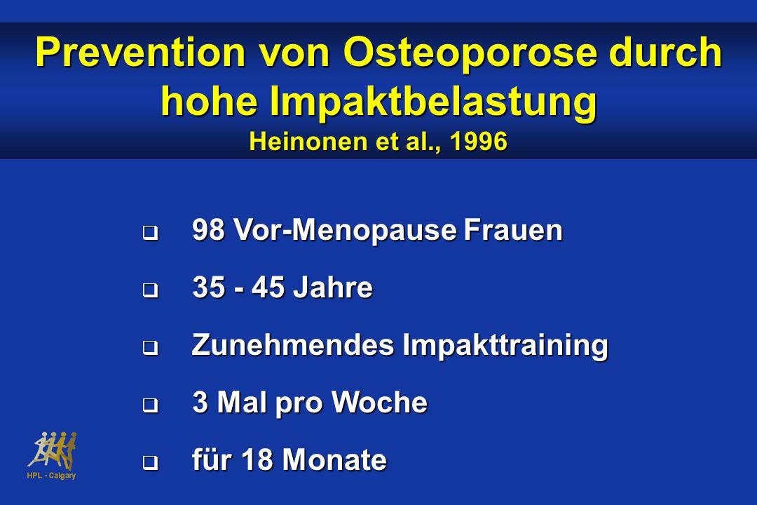 Prevention von Osteoporose durch hohe Impaktbelastung