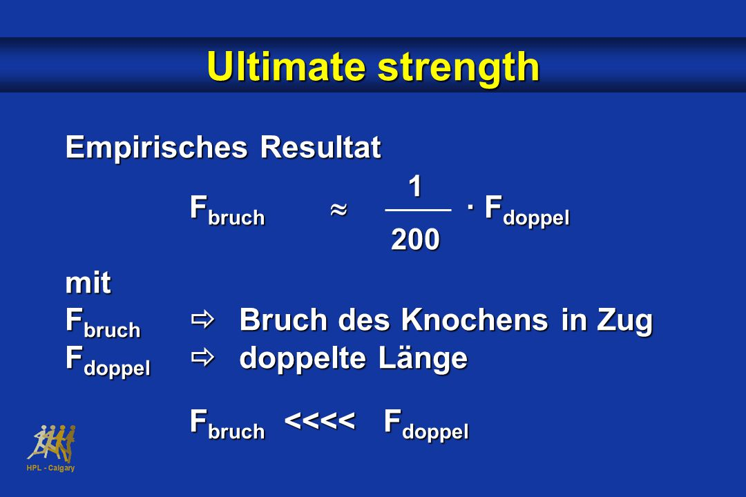 Ultimate strength Empirisches Resultat Fbruch » · Fdoppel mit