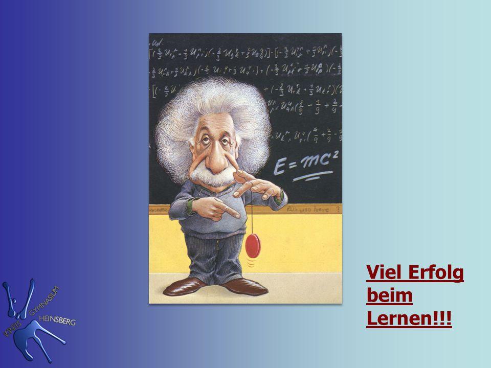 Viel Erfolg beim Lernen!!!