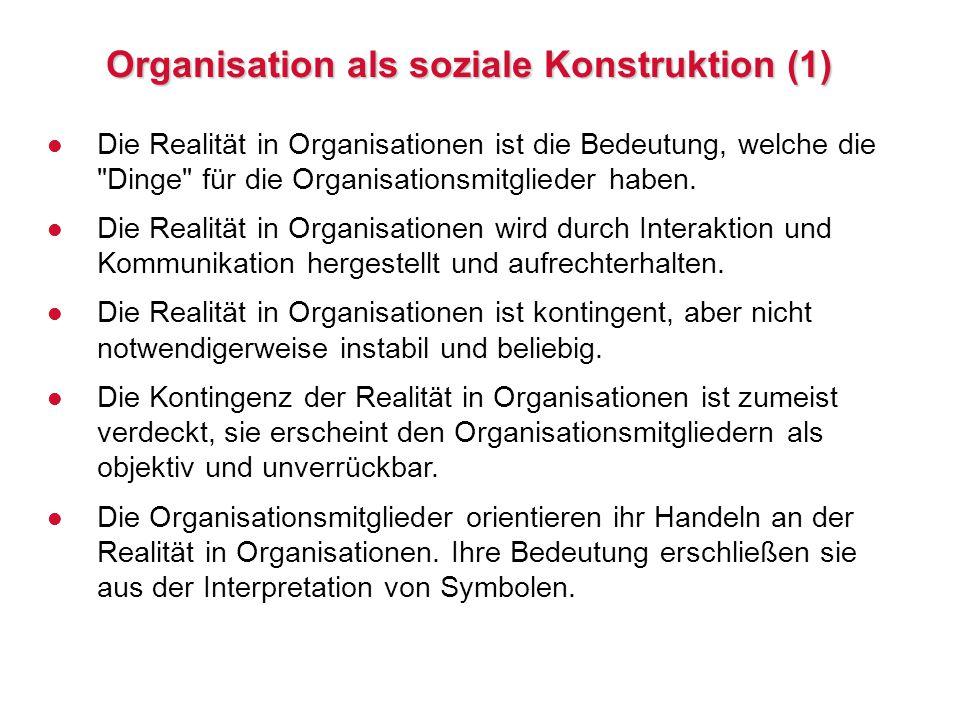 Organisation als soziale Konstruktion (1)