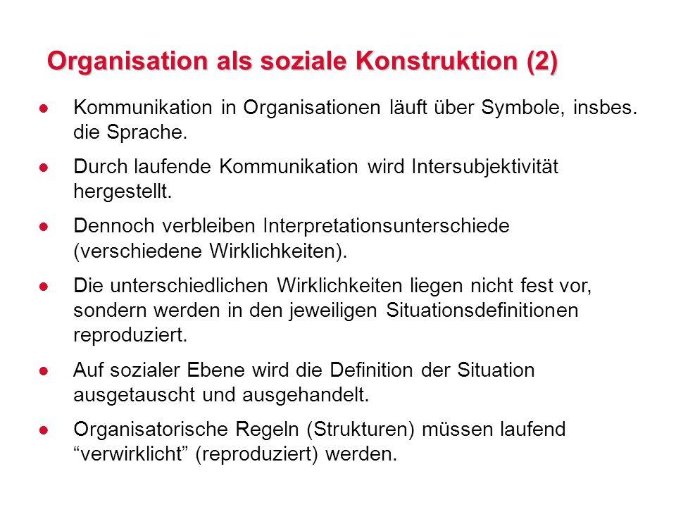 Organisation als soziale Konstruktion (2)