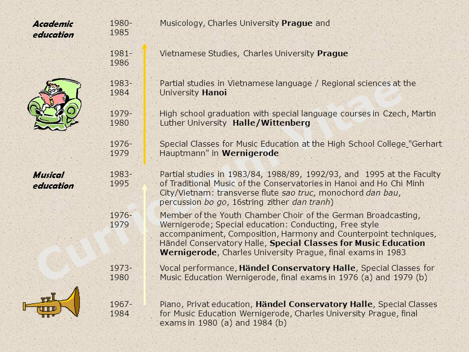 Curriculum Vitae Academic education Musical education 1980-1985