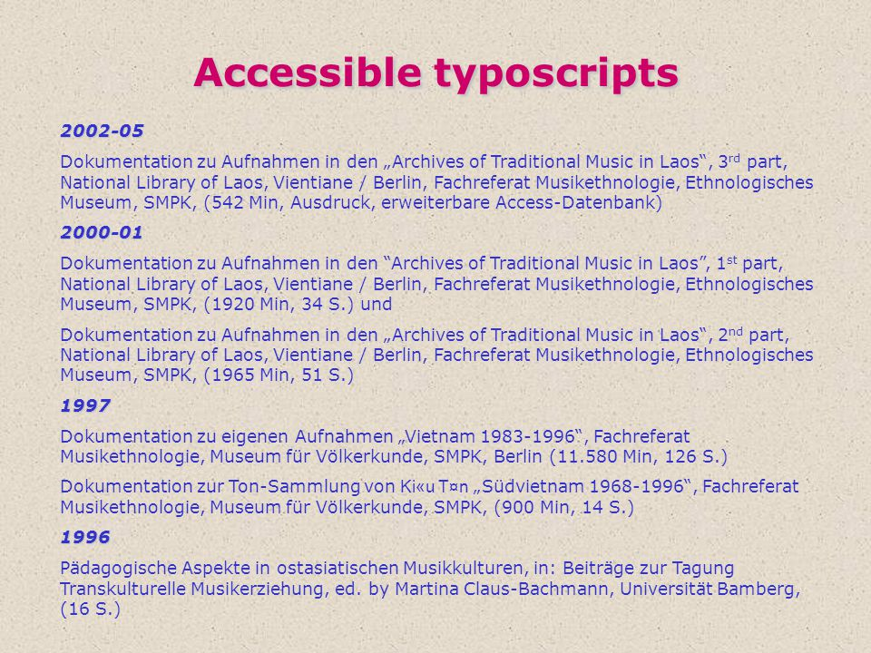 Accessible typoscripts